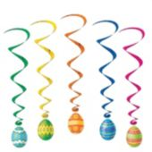 Easter Egg Whirl Decorations-5 Pack