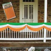 IRISH FLAG SATIN BUNTING