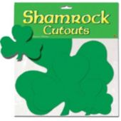 Shamrock Cutouts-9 Pack