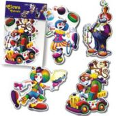 Circus Clown Cutouts-4 Pack