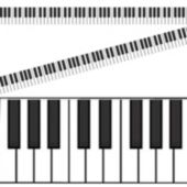 Piano Keyboard Roll Decoration