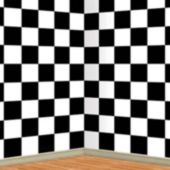 Checkered Backdrop Scene Setter Roll