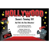 Hollywood Party  Personalized Invitations