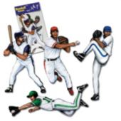 Baseball Player Cutouts-4 Pack