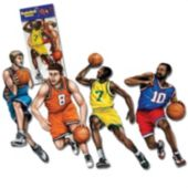 Basketball Player Cutouts-4 Per Unit