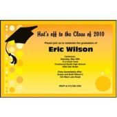 Yellow Graduation Personalized Invitations