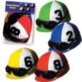 Horse Racing Jockey Helmet Cutouts-4 Pack