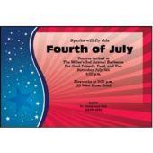 Patriotic Stars Personalized Invitations