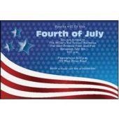 Patriotic Stars And Stripes Personalized Invitations