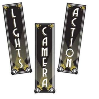LIGHTS CAMERA ACTION CUTOUTS