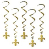 Fleur De Lis Whirl Decorations-5 Per Unit