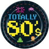 "Totally 80's 9"" Plates - 8 Pack"
