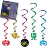 80's Whirl Decorations-5 Pack