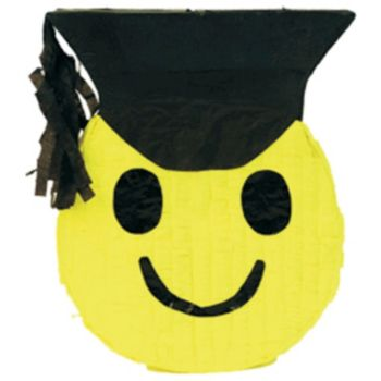 GRAD SMILE FACE PINATA