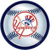 "NY Yankees 9"" Plates - 18 Pack"