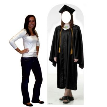 FEMALE GRAD LIFE SIZE STAND UP