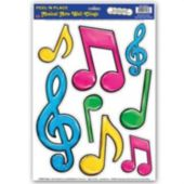 Neon Music Note Clings