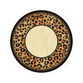 "Animal Print 7"" Plates - 8 Pack"