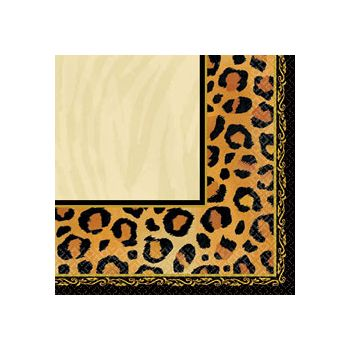 ANIMAL PRINT BEVERAGE NAPKINS