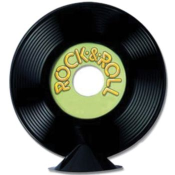 ROCK & ROLL  RECORD CENTERPIECE