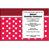 Red Polka Dots Personalized Invitations