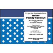 Blue Dot  Personalized Invitations