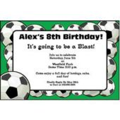 Soccer Fan Personalized Invitations