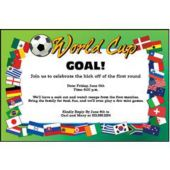 World Cup Personalized Invitations