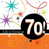 70 LIFE IS GREAT BEVERAGE NAPKINS