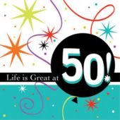 50 Life Is Great Beverage Napkins