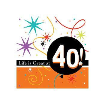40 LIFE IS GREAT BEVERAGE NAPKINS