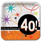 "40 Life Is Great 7"" Plates"