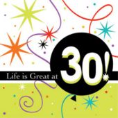 30 Life Is Great Beverage Napkins - 16 Pack