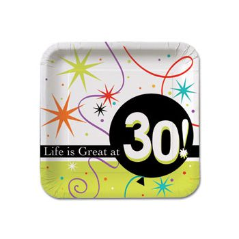 "30 LIFE IS GREAT 7"" PLATES"