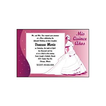 Mis Quince Personalized Invitations