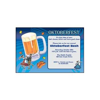 Oktoberfest Beer Personalized Invitations