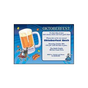 Oktoberfest Beer Personalized Invitations