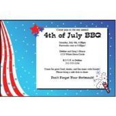 Patriotic Fireworks Personalized Invitations