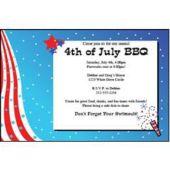 Patriotic Fireworks Personalized Invitations