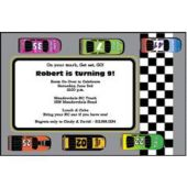 Race Car Track Personalized Invitations