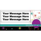 LIFE IS GREAT CUSTOM BANNER (Variety of Sizes)