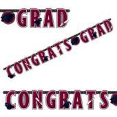 Maroon Graduation Letter Banner