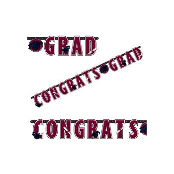 Maroon Graduation Letter Banner
