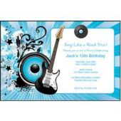 Blue Rocker Personalized Invitations