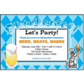 Oktoberfest Party Personalized Invitations