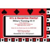 Card Night Personalized Invitations
