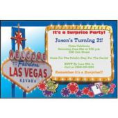 Welcome To Las Vegas Custom Invitations
