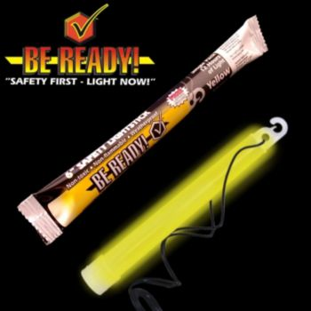 ''be Ready'' Yellow 6'' Safety Light Stick