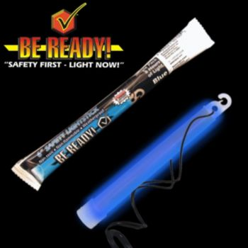 ''be Ready'' Blue 6'' Safety Light Stick