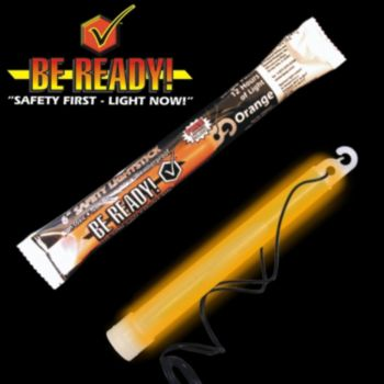 ''be Ready'' Orange 6'' Safety Light Stick